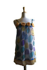 By Deep Los Angeles Sleeveless Dress Size S Women's Multi-Color Floral Circles