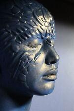 Jennifer Lawrence 1:1 Life Mask as Mystique - painted