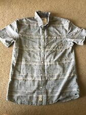 Vans Off The Wall Button Down Shirt Cotton Stripes Boy's L Young Men's Small S