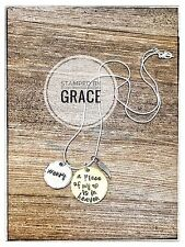 A piece of my heart lives in heaven Hand stamped necklace