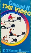 Concept 2 II Rowing Machine VHS Indoor Rower Workout - Exercise Fitness Video +