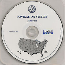2004 2005 VW Touareg CD Base Navigation Map Cover MI IN Partial States IL WI