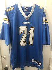 New listing Tomlinson San Diego Chargers NFL Reebok Powder Blue Jersey Lgth +2 XL Stitched