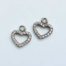 GENUINE PANDORA (S) Pink Heart Earrings 290657PCZ FREE DELIVERY