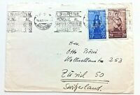 ROMANIA - Cover - 1953 - Slogan Cancel - To Switzerland