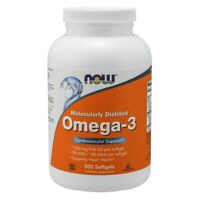 NOW Foods Omega-3, Molecularly Distilled 500 Softgels FREE SHIPPING. MADE IN USA
