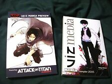 2015 Viz Media Manga Sampler Tokyo Ghoul & Manga Preview Attack on Titan