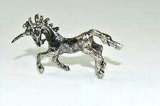 Unicorn Mythical Fantasy Magic Pegasus Horse Silver Metal Figurine Statue Bx5
