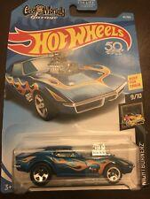 2018 Hot Wheels #41 Nightburnerz 9of10 68 Corvette Gas Monkey Garage Blue w/5sp
