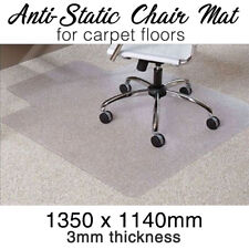 Officechair Mat -carpet- Anti-static Computer Safe 1350mm X 1140mm Vinyl
