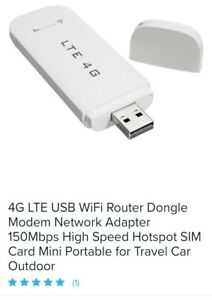 4G LTE USB WiFi Router Dongle Modem Network Adapter 150Mbps High Speed Hotspot