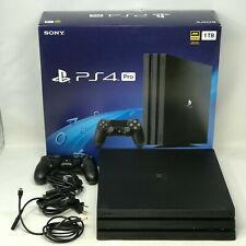 Sony Playstation 4 Pro Black 1TB Open Box CUH-7215B w/ Box + Controller + Cables
