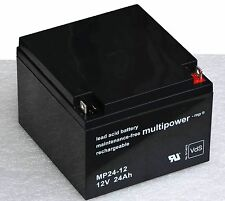 MULTIPOWER AKKU 12V 24AH MP24-12 BLEIAKKU BATTERY FOR UPS USV ROLLER KINDERAUTO