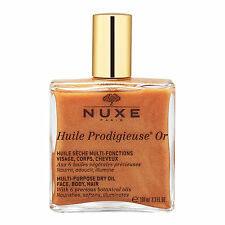 1 PC NUXE Huile Prodigieuse OR Multi-Usage Dry Oil Golden Shimmer 100ml Organic