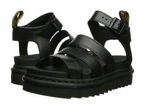 Doc Martens Women's Blaire Vegan Leather Platform Sandals Black