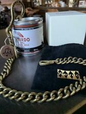 WEIRDO WALLET CHAIN ACCESSORY MEN RARE COLLECTIBLE BRASS GOLD TONE KEY HOLDER