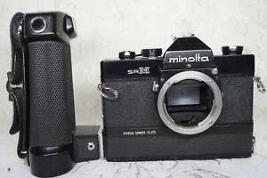 "Minolta SR-M 35mm Motor Drive SLR Tested, All Working ""Very Rare"""