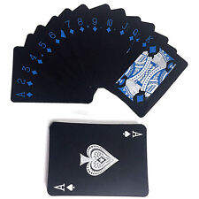 High Quality Black Plastic Poker Waterproof Magic Playing Cards Table Game WOW