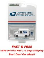 Greenlight USPS US Mail Postal Service Mail Truck LLV with Mailbox 1:64 29888
