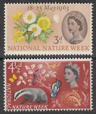 GB 1963 Commemorative Stamps~Nature~Phosphor~Unmounted Mint Set~UK Seller