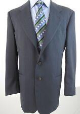 Giorgio Armani Collezioni Men's Suit Wool 3 BTN Gray Pinstripe 44L Pants 36/30 *