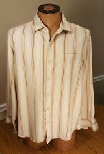 men's Tommy Bahama long-sleeve silk Hawaiian dress shirt size extra large olive