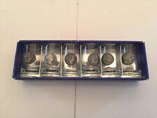6 Vintage Stamper Helsinki Shot Glasses