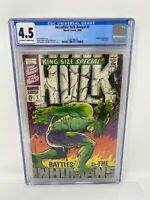 Incredible Hulk Annual #1 - 1968 Marvel Comics - CGC 4.5 Off White - White Pages