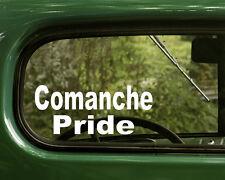 2 COMANCHE PRIDE DECALs Native American Sticker For Car Truck Laptop Bumper