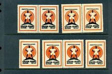 8 VINTAGE 1925 ESSEN UNSER SPORT EXPO  POSTER STAMPS  (L729) GERMANY AUSTELLUNG