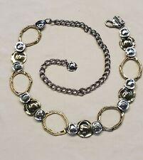 Chico's Silver & Gold tone chain belt