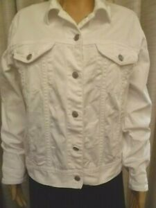 Sportscraft white denim jean jacket size 12 FREE POST