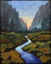 W HAWKINS Landscape Original Midwest Impressionism Oil Painting Study Art Signed