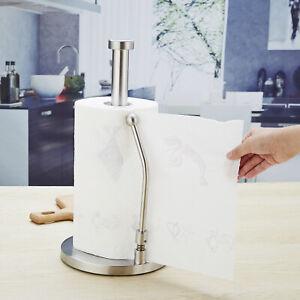 Stainless Steel Kitchen Roll Paper Towel Holder Bathroom Tissue Stand Rack AU