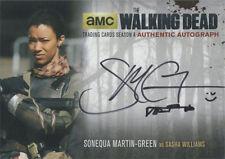 Walking Dead Season 4 Part 2 Autograph Card SMG2 Sonequa Martin-Green Silver