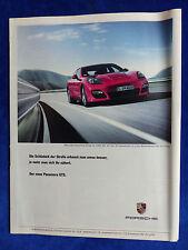 Porsche Panamera GTS - Werbeanzeige Reklame Advertisement 2012 __ (418