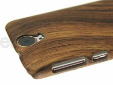 For HTC One E9+ (One E9 Plus) Phone Case Cover Brown Wood Wooden Pattern