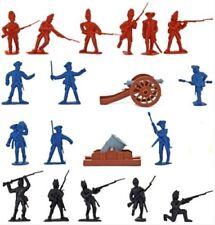 Revolutionary War Toy Soldiers Tub 36 British Colonials Washington Cannon Mortar