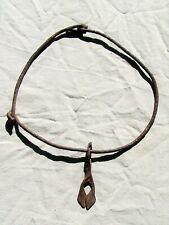 """New listing African Dogon Priest's Iron Hogon Duge Necklace From Mali 11"""" Length"""