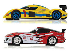 SCALEXTRIC Slot Cars Endurance LMP Yellow & GT Red C1399