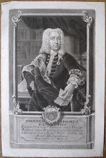 Mezzotint de J.J. Haid, Portrait de Johann Adam von Ickstatt, 1741