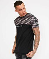 Kings Will Dream KWD New Mens Crew Neck Short Sleeve T Shirt Wakley Black Grey