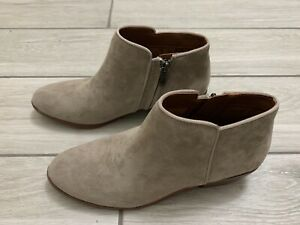 Sam Edelman Womens Petty Gray Putty Suede Booties Size 6.5 (582195)