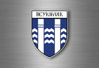 Sticker decal souvenir car coat of arms shield city flag reykjavik iceland