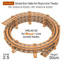 HRL45-30 2.5 Level Helix for Roco-Line Tracks R4/R5 / Gleiswendel für Roco-Line
