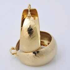 Gorgeous 14K  Yellow Gold Plated Hoop Style Womens Jewelry Earrings E004