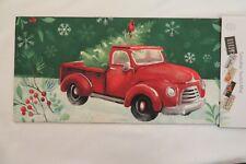 Red Truck, Christmas Tree, Cardinal, Sassafras Rug Insert Switch Door Mat 10x22