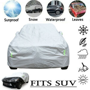 Waterproof Full Car Cover Outdoor UV Snow Dust Rain Resistant SUV Protection US