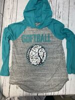 Justice Softball Raglan With Hood 18/20 Active  Wear