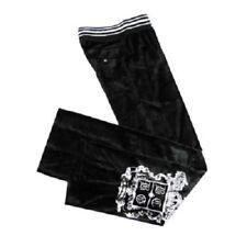BCBG MAXAZRIA WOMEN'S Black Stretch VELVET SPORTS PANTS  SZ XL NEW